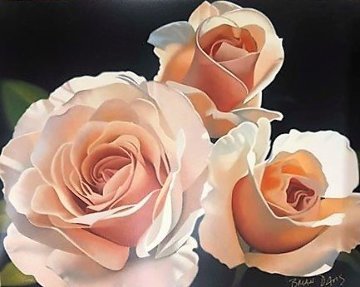 Three French Lace Roses 1996 Limited Edition Print - Brian Davis