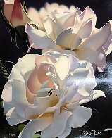 Two White Roses 1996 Limited Edition Print by Brian Davis - 1