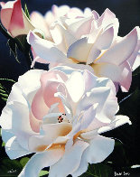 Two White Roses 1996 Limited Edition Print by Brian Davis - 0