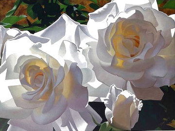White Radiant Roses Limited Edition Print - Brian Davis
