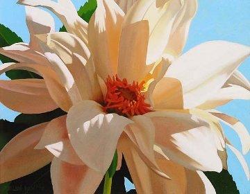 Dahlia Dream 2011 14x18 Original Painting - Brian Davis