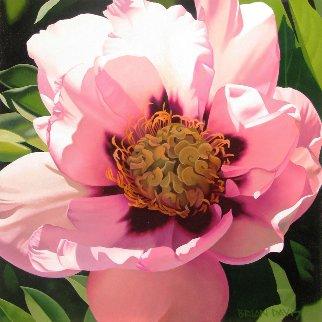 Pink Peony 24x24 Original Painting - Brian Davis