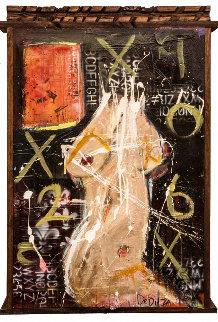 Exposed 2012 40x26 Huge Original Painting - William DeBilzan