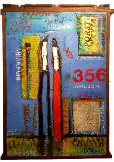 356 Reasons 2016 41x26 Huge Original Painting - William DeBilzan