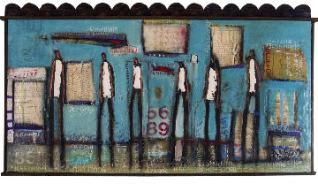 Common Folks 2016 81x44 Original Painting - William DeBilzan