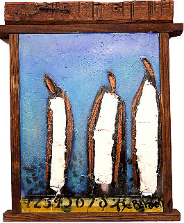 3 Amigos 19x25 Original Painting - William DeBilzan