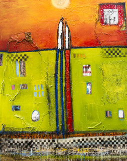 At Your Side  2016 52x67 Original Painting by William DeBilzan
