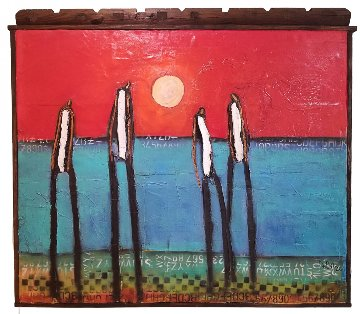 Beach Boys 2017 52x57 Original Painting by William DeBilzan