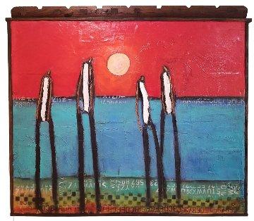 Beach Boys 2017 52x57 Huge Original Painting - William DeBilzan