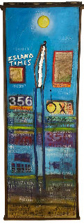 Island Times 84x24 Super Huge Original Painting - William DeBilzan