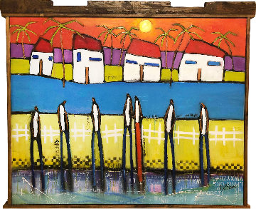 Somewhere in Paradise 2018 53x64 Original Painting - William DeBilzan