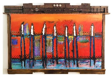 Sunset in the Caribbean 2018 52x66 Original Painting by William DeBilzan
