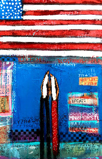 United We Stand 2019 52x34 Original Painting by William DeBilzan