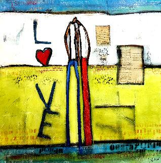 Hearts As One 2019 52x51 Original Painting - William DeBilzan