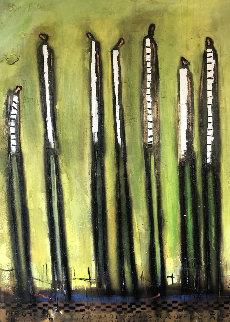 7th Hour 2000 48x36 Original Painting by William DeBilzan