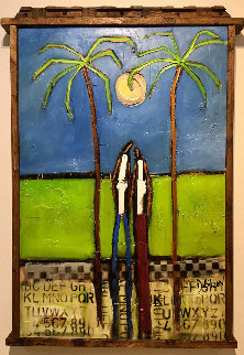 Back to the Islands 2019 39x28 Original Painting - William DeBilzan