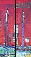 Untitled Painting (Diptych) 90x48 Huge Original Painting by William DeBilzan - 0