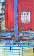 Untitled Painting (Diptych) 90x48 Huge Original Painting by William DeBilzan - 9
