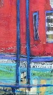 Untitled Painting (Diptych) 90x48 Huge Original Painting by William DeBilzan - 10