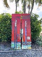 Untitled Painting (Diptych) 90x48 Huge Original Painting by William DeBilzan - 3
