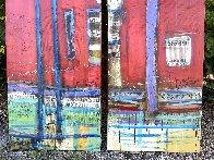 Untitled Painting (Diptych) 90x48 Huge Original Painting by William DeBilzan - 1