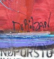 Untitled Painting (Diptych) 90x48 Huge Original Painting by William DeBilzan - 4