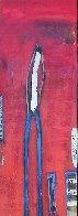 Untitled Painting (Diptych) 90x48 Huge Original Painting by William DeBilzan - 7