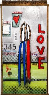 Between Us 2021 52x26 Huge  Original Painting - William DeBilzan