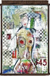 Nude # 92 39x26 Original Painting - William DeBilzan