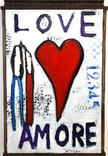 Much Love 2021 40x26 Huge Original Painting - William DeBilzan