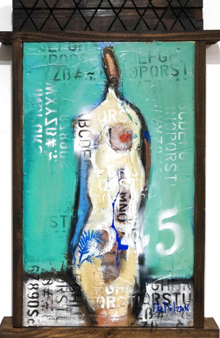 Naked in Love  2021 24x15 Original Painting by William DeBilzan