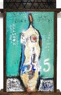 Naked in Love  2021 24x15 Original Painting by William DeBilzan - 0