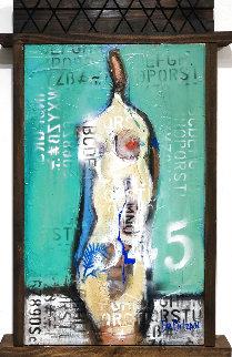Naked in Love  2021 24x15 Original Painting - William DeBilzan