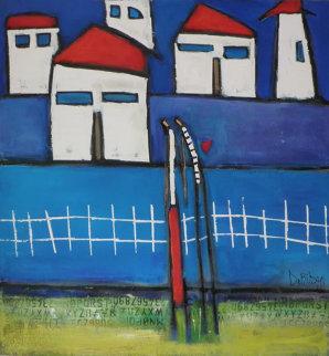 Blue Moment 2003 36x36 Original Painting by William DeBilzan