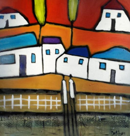 Even Sweeter Attitude 2002 42x44 Original Painting by William DeBilzan