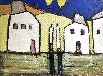 Suburban Speculation 2001 36x48 Original Painting by William DeBilzan