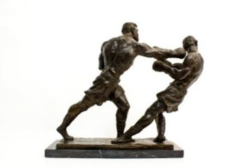 Ali Against Foreman Bronze Sculpture 12 in Sculpture - Dino  DeCarlo