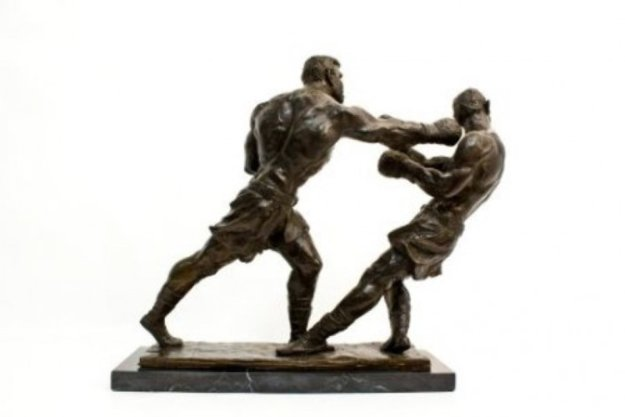Ali Against Foreman Bronze Sculpture 12 in Sculpture by Dino  DeCarlo