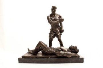 Clay Over Liston Bronze Sculpture 14 in  Sculpture by Dino  DeCarlo