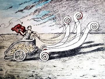 Untitled Chariot Lithograph Limited Edition Print - Giorgio de Chirico