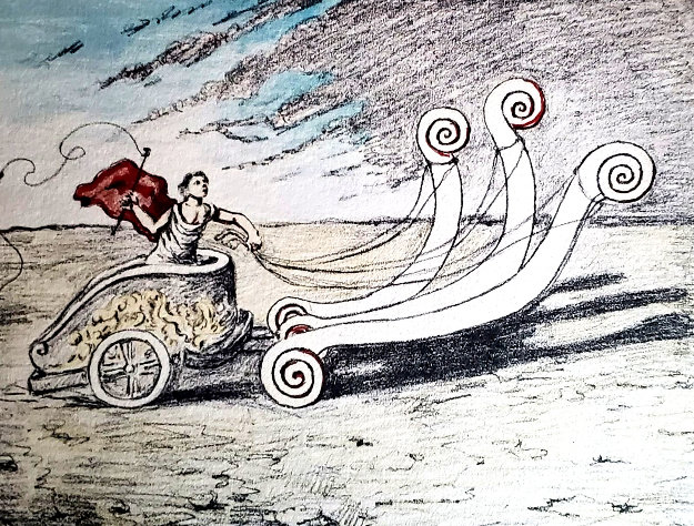 Untitled Chariot Lithograph Limited Edition Print by Giorgio de Chirico