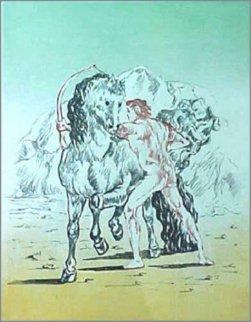 Arciere con cavallo, 1972 Limited Edition Print - Giorgio de Chirico