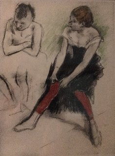 Danseuse Aux Bas Rouges 1919 Limited Edition Print - Edgar Degas