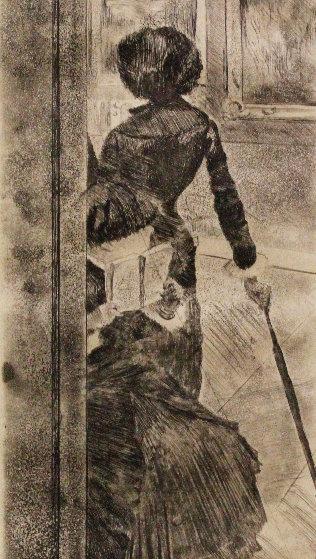 Au Louvre, La Peinture, Mary Cassatt 1879 Limited Edition Print by Edgar Degas