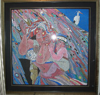 Earth Mother 52x52 Works on Paper (not prints) by He Deguang - 1