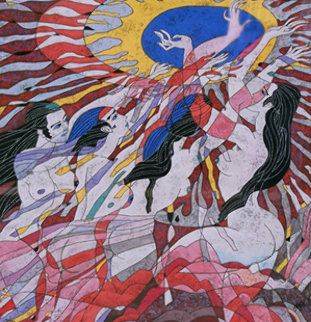 Rhythm of Life 1989 Limited Edition Print by He Deguang