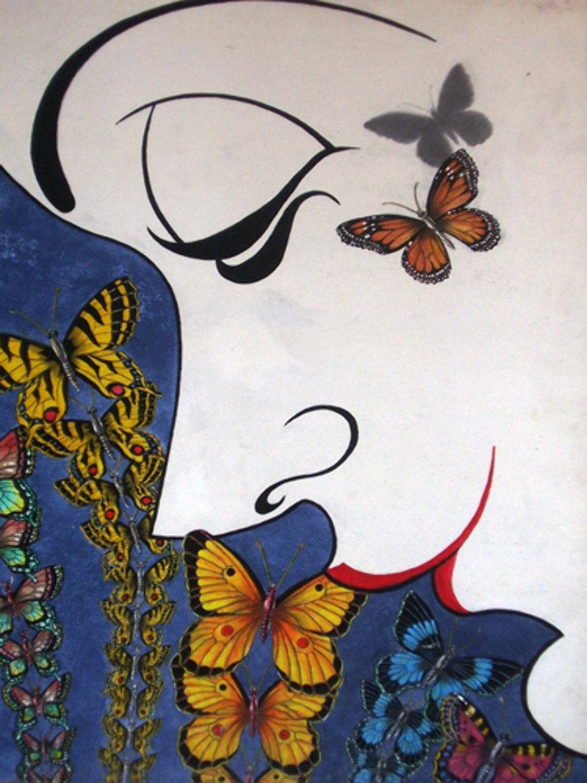 Butterflies 24x18 Original Painting by Eric De Kolb