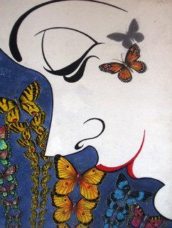 Butterflies 24x18 Original Painting - Eric De Kolb