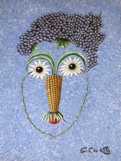 Blueberry Brain 24x18 Original Painting - Eric De Kolb