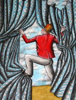 Don't Jump 24x18 Original Painting - Eric De Kolb